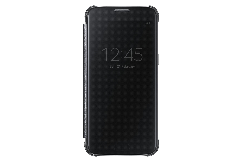 brand new 6f6e9 890e2 Samsung Galaxy S7 Case S-View Clear Flip Cover - Black (NOT FOR S7 EDGE)