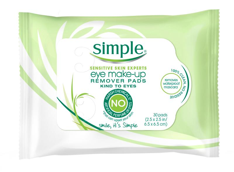 Simple Eye Make Up Remover Pad 30 Count Pack Of 3