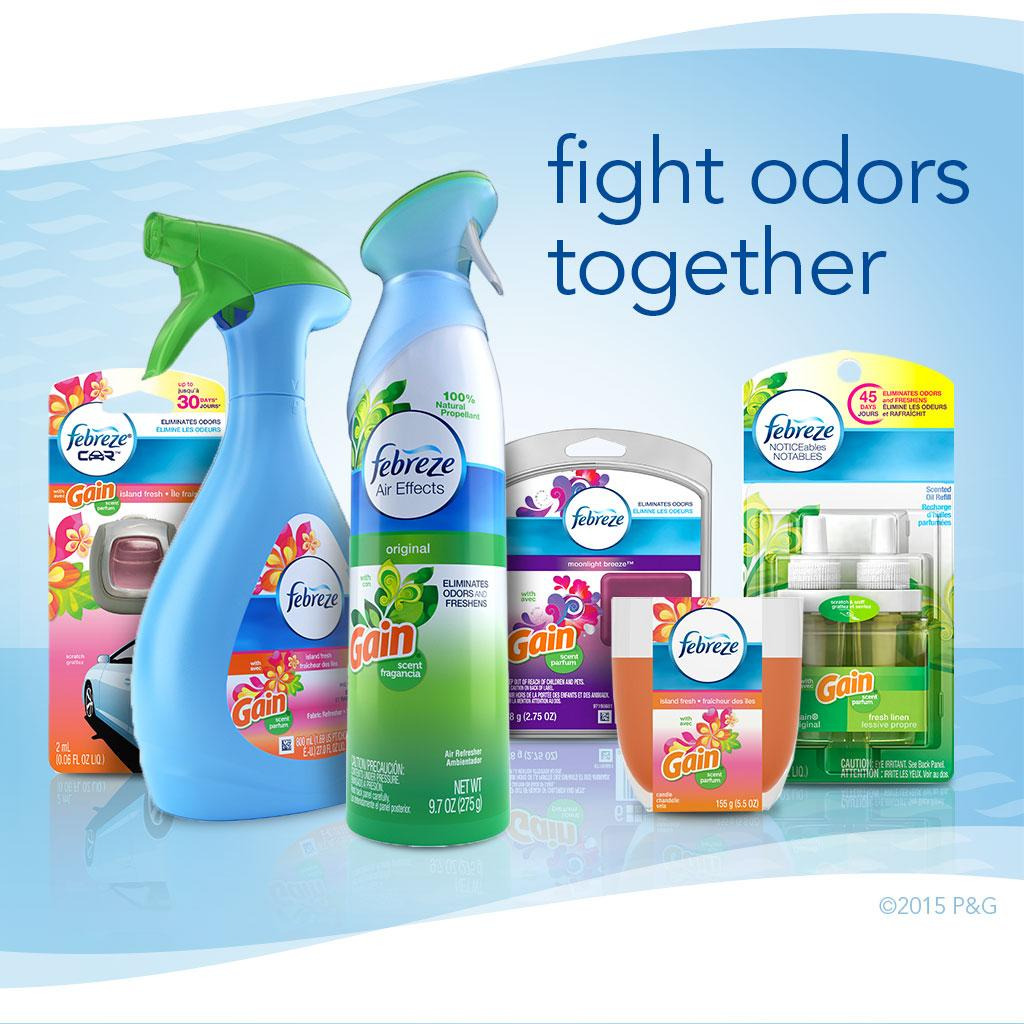 Febreze Noticeable eliminates odors and freshens for up to 45 days. It's designed with dual scent chambers that alternate throughout the day, so you never stop noticing the freshness. Just plug it into any outlet to begin eliminating odors and releas.