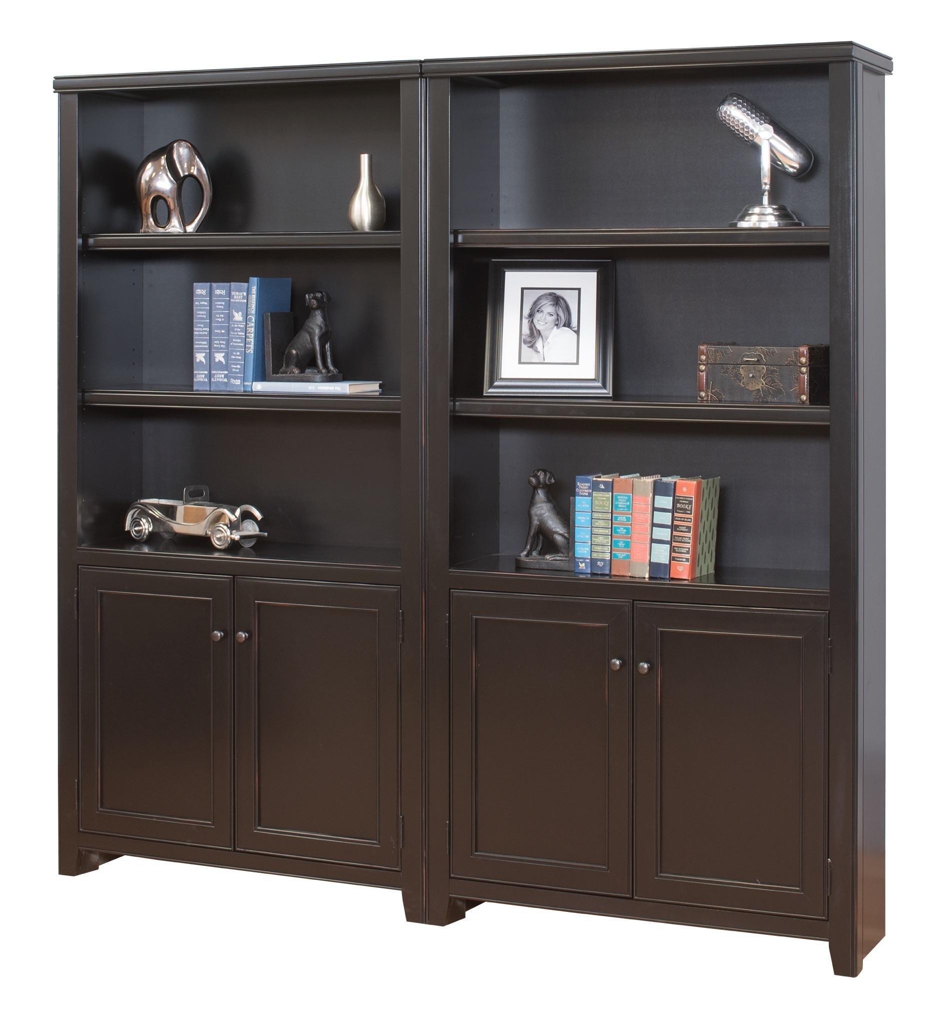 Amazon.com: Martin Furniture Tribeca Loft Black Library ...