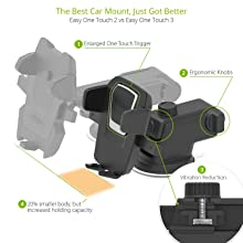 Amazon.com: iOttie Easy One Touch 3 (V2.0) Car Mount ...