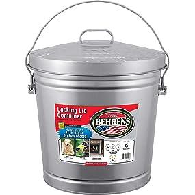 Amazon Com Behrens 6106 6 Gallon Locking Lid Can
