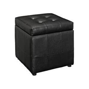 Good Volt Storage Ottoman In Black