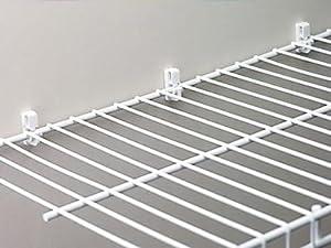 rubbermaid wire shelving wardrobe white 12. Black Bedroom Furniture Sets. Home Design Ideas