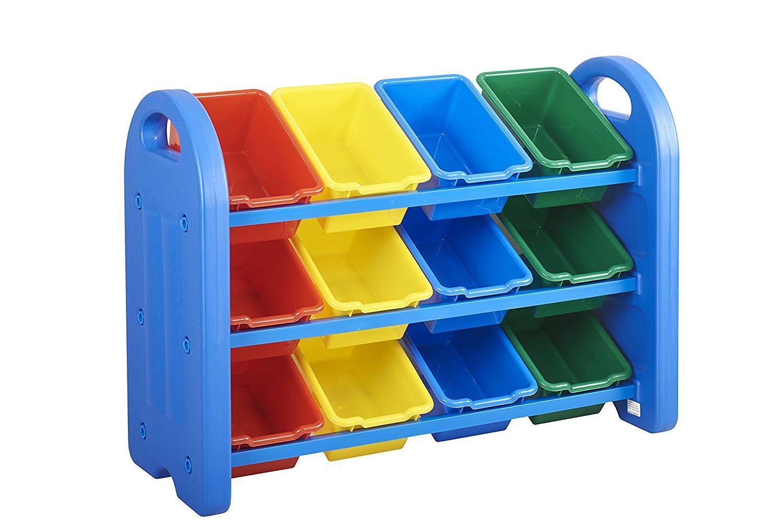 Childrens Kids 3 Tier Toy Bedroom Storage Shelf Unit 8: Amazon.com: ECR4Kids 3-Tier Storage Organizer, Blue With