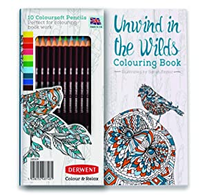 Adult Coloring Book And Colorsoft Pencils Color Relax