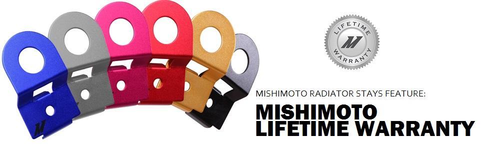MISHIMOTO Radiator Stay Aluminum Blue for 08-12 Subaru Impreza//WRX//STi