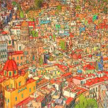 Color Birds Eye Perspectives Of Global Locales From Artist Steve McDonald