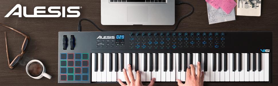 Alesis VI61 Advanced 61-Key USB MIDI Pad/Keyboard