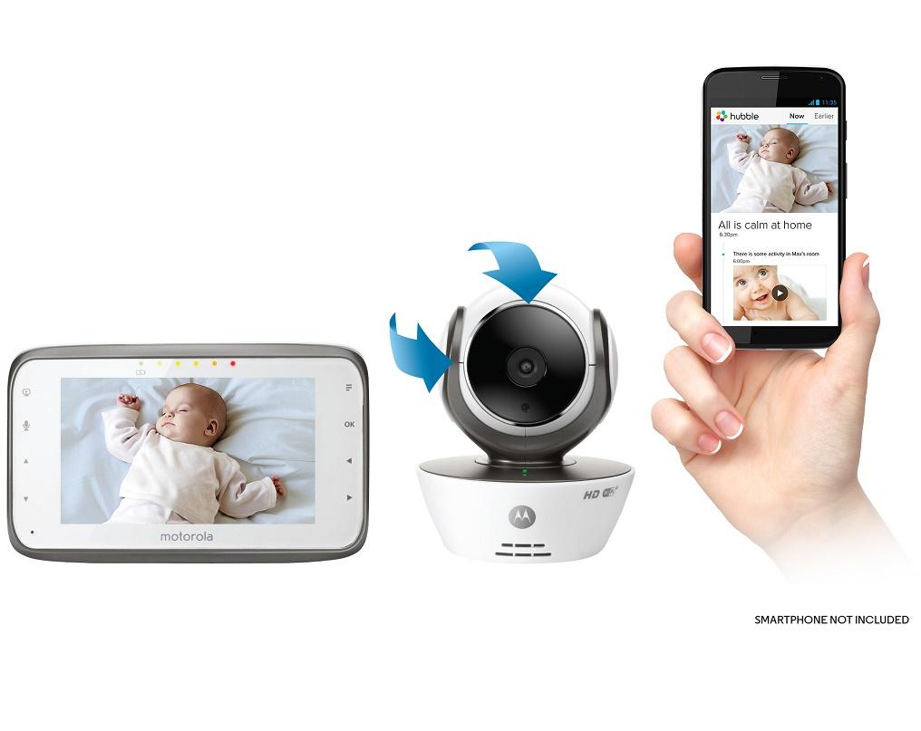 Motorola MBP854CONNECT Dual Mode Baby Monitor with 4 3-Inch LCD Parent  Monitor and Wi-Fi Internet Viewing