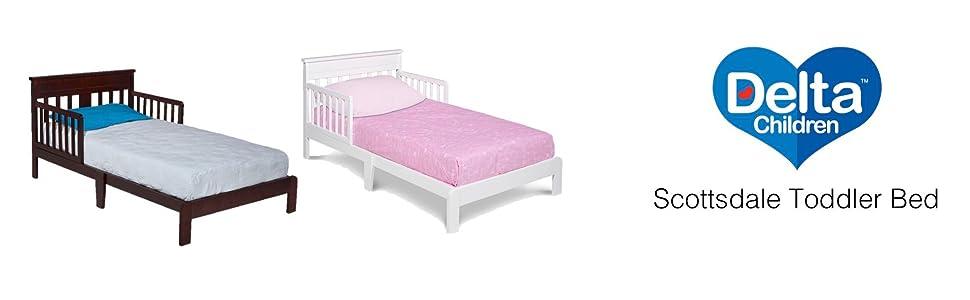 Toddler Bed Guardrail Wood Classic Kids Bedroom Furniture