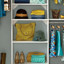 suitesymphony closet organizer, closet storage, wood closet, premium closet, closetmaid, accessories