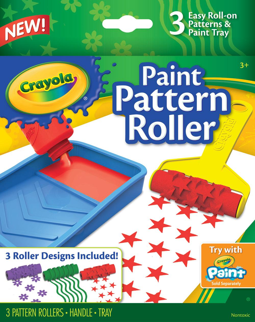Amazon.com: Crayola Paint Pattern Roller: Toys & Games