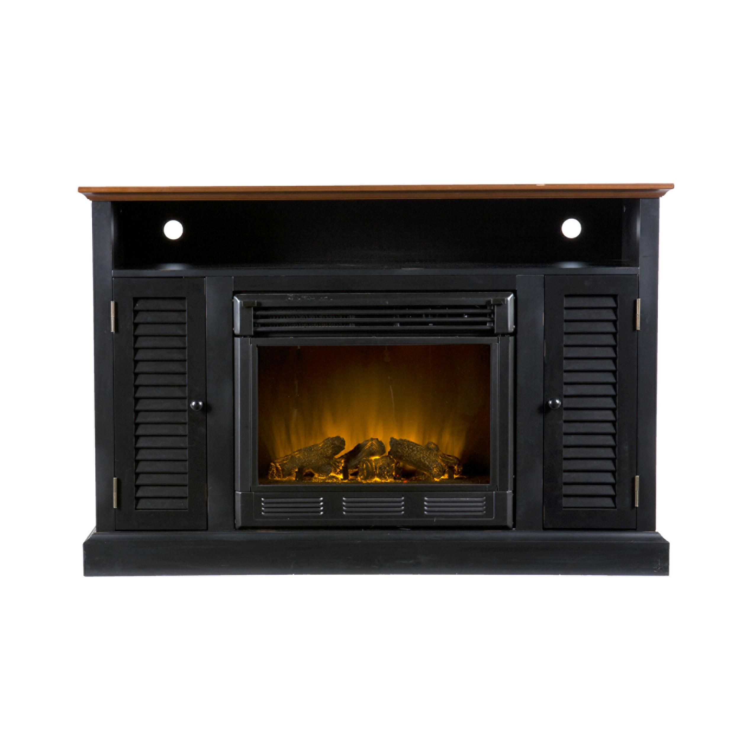 Amazoncom SEI Antebellum Media Console with Electric Fireplace