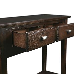 Amazon.com: Leick salón consola/mesa de sofá color café ...