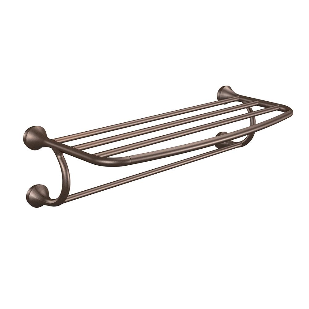 Moen YB2894ORB Eva Bathroom Hotel Towel Shelf, Oil-Rubbed Bronze ...