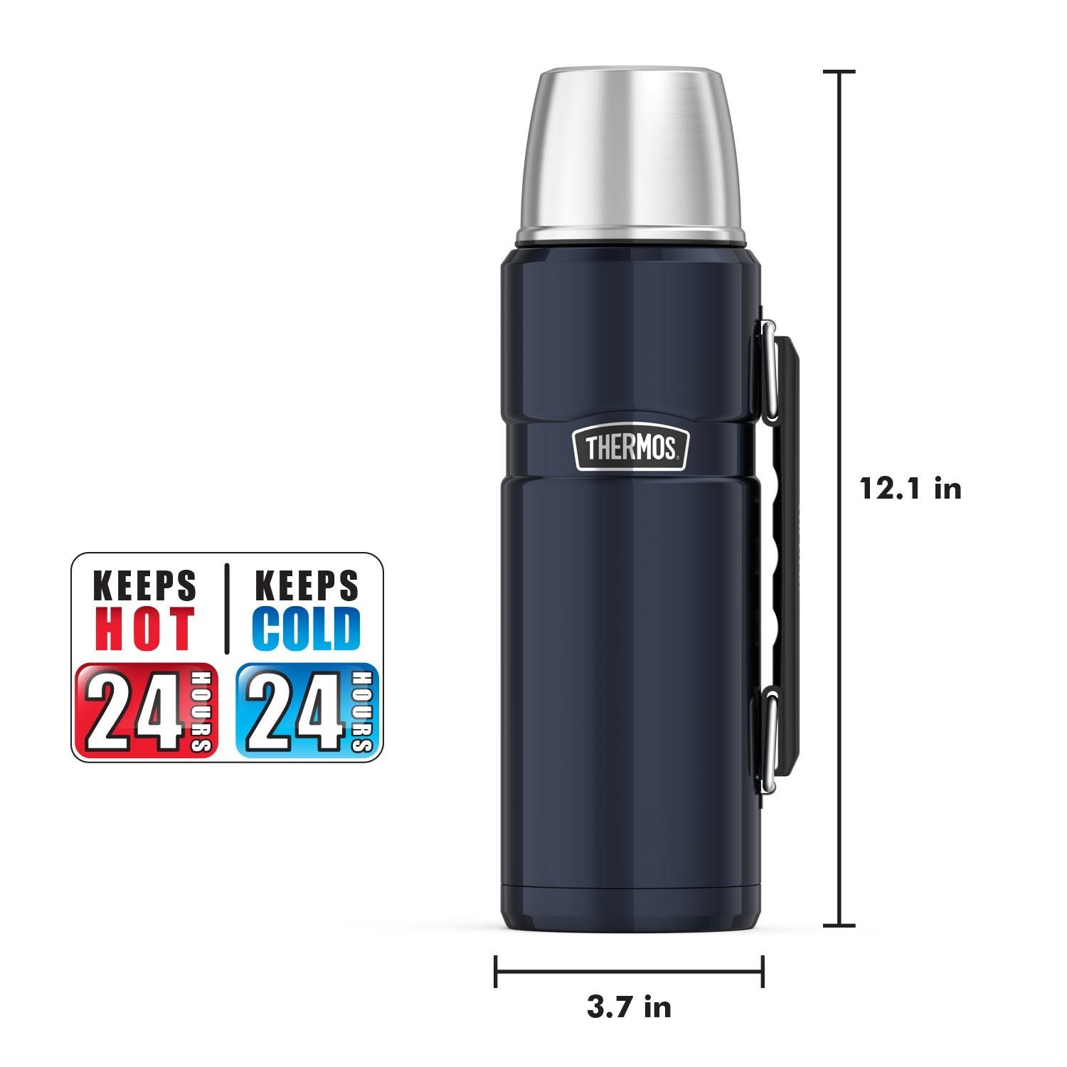 thermos sk2010mbtri4 stainless king 40 ounce beverage bottle midnight blue. Black Bedroom Furniture Sets. Home Design Ideas