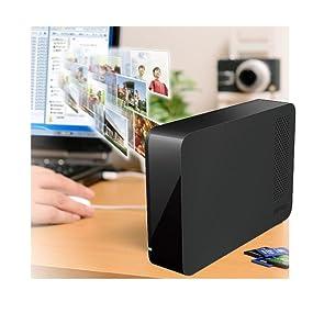 buffalo drivestation, drivestation, desktop hd, hard drive, external hard drive, 1 drive