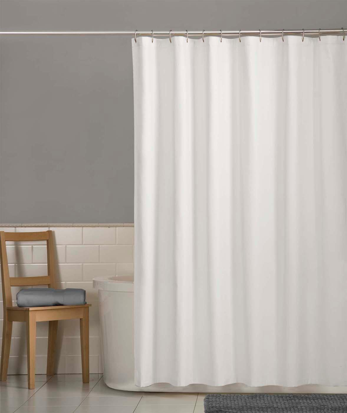 maytex water repellent fabric shower curtain. Black Bedroom Furniture Sets. Home Design Ideas