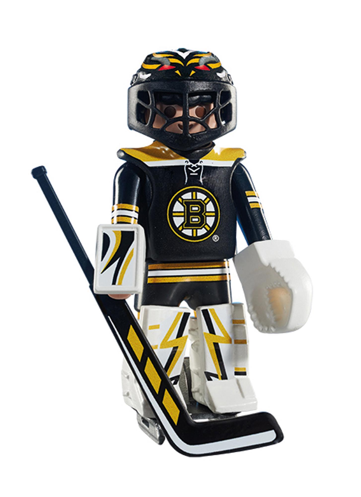 a9dc383b7fc Amazon.com  PLAYMOBIL NHL Boston Bruins Goalie  Toys   Games