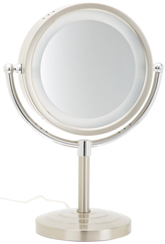 Amazon Com Jerdon Hl745nc 8 5 Inch Halo Lighted Vanity Mirror With 5x