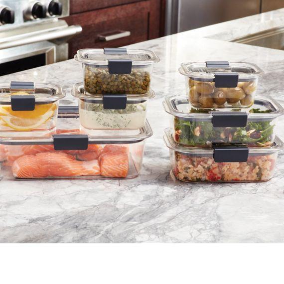 Amazon.com: Rubbermaid Brilliance Food Storage Container, 100% Leak