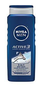 shower gel, active clean, NIVEA MEN