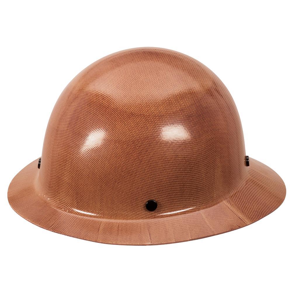 Real Carbon Fiber Hard Hat: MSA 475407 Natural Tan Skullgard Hard Hat With Fas-Trac