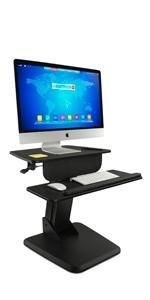 MI-7910 LCD Desk Mount Workstation for ergonomic sit stand desk mounts