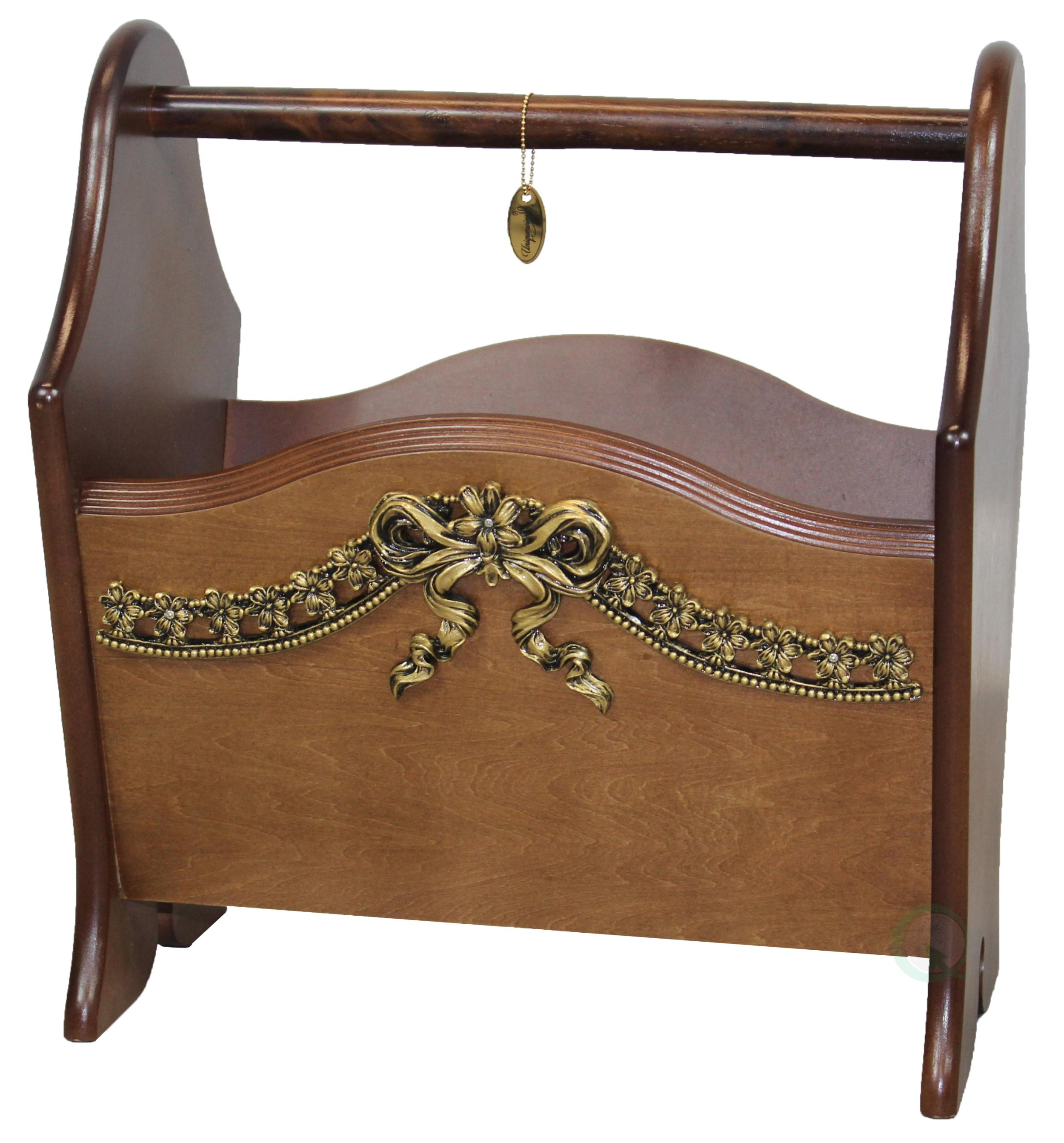 Wood Magazine Rack ~ Amazon elegant solid wood magazine rack with gold bow
