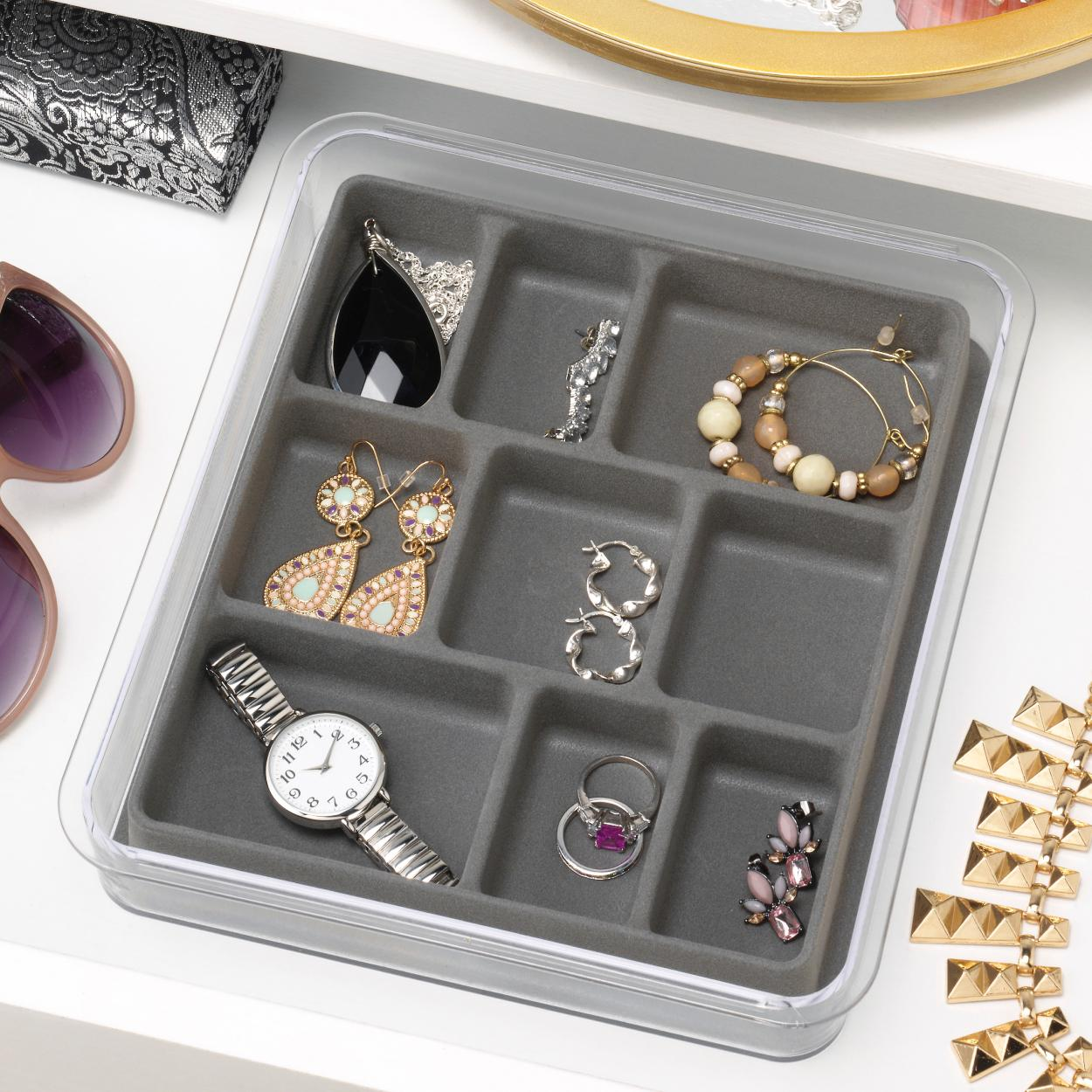Amazon.com: Whitmor 7/40-Section Stackable Tray: Home