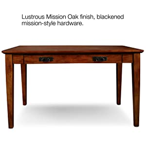 82400 Mission Laptop Desk,Oak,Mission Oak Finish,Drop Down Drawer Front,
