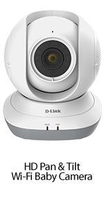 HD Pan $ Tilt Wi-Fi Baby Camera