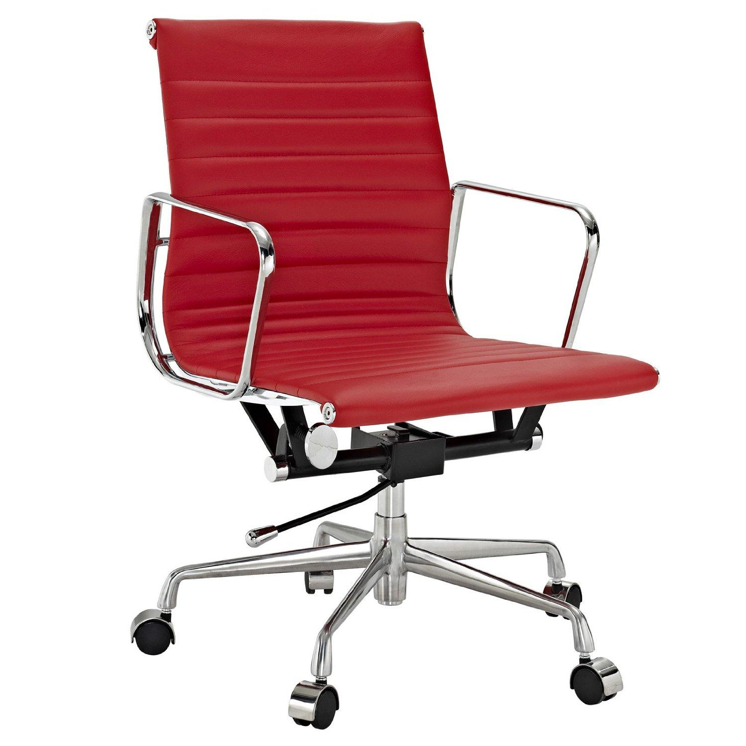 Red office chair modern -