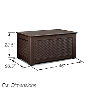 Amazon Com Rubbermaid Patio Chic Plastic Storage Bench