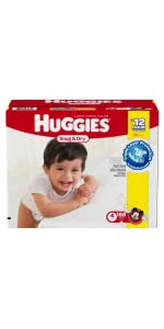 Searching on the price of baby diapers? Huggies Snug & Dry are a good value for standing babies