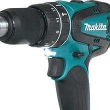 Makita lights illuminate shines on tool