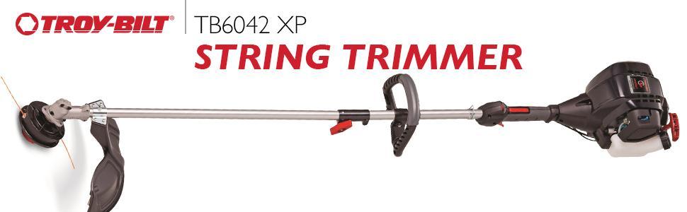 amazon com troy bilt tb6042 xp 17 inch 25cc 4 cycle straight shaft
