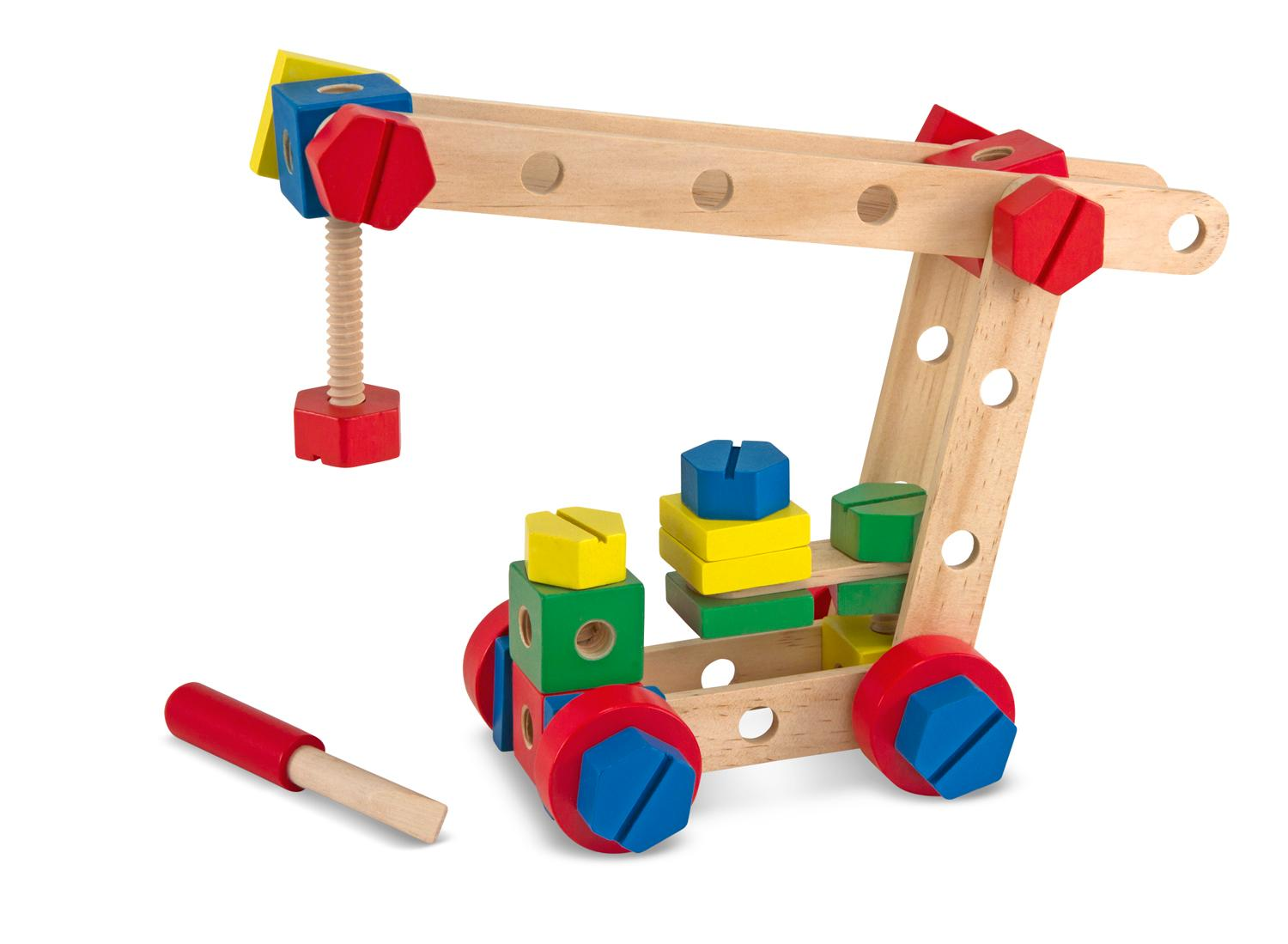 Building Construction Toys : Amazon melissa doug wooden construction building