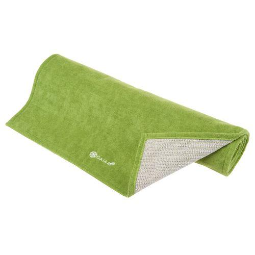 Amazon Com Gaiam Grippy Yoga Mat Towel Blue Fuchsia