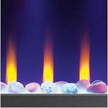 gas burning flame effect