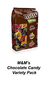 M&M'S Variety Mixes are filled with chocolate favorites: milk chocolate, peanut and peanut butter.