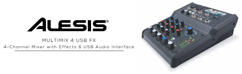 alesis multimix4usbfx 4 channel mixer with effects usb audio interface alesis. Black Bedroom Furniture Sets. Home Design Ideas