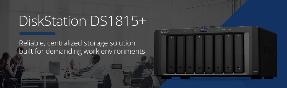 Synology, DiskStation, DS1815+, NAS, network-attached storage