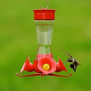 Perky-Pet Pinch Waist Glass Hummingbird Feeder with Free Nectar