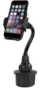 long cup holder mount smart phone car