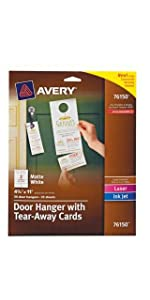 Avery Door Hangers with Tear-Away Cards