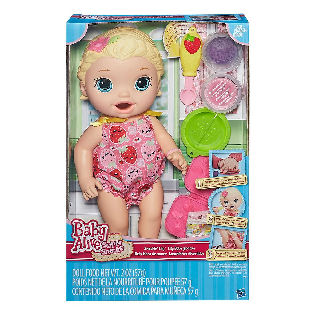 Amazon Com Baby Alive Super Snacks Snackin Lily Blonde