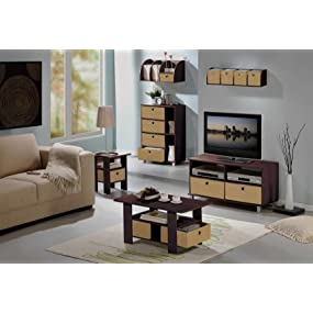 Amazoncom Furinno EX End Table Bedroom Night Stand - Furinno coffee table