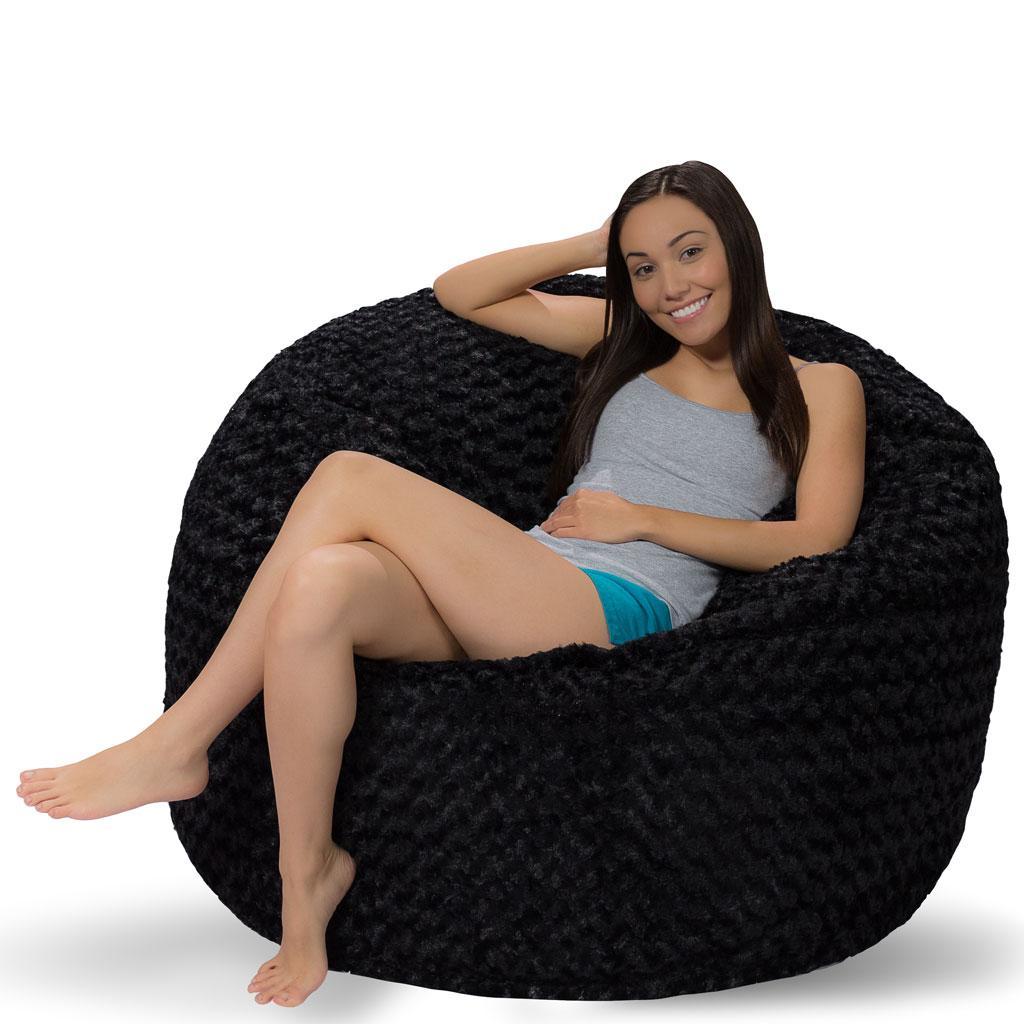 Amazon Com Comfy Sacks 4 Ft Memory Foam Bean Bag Chair